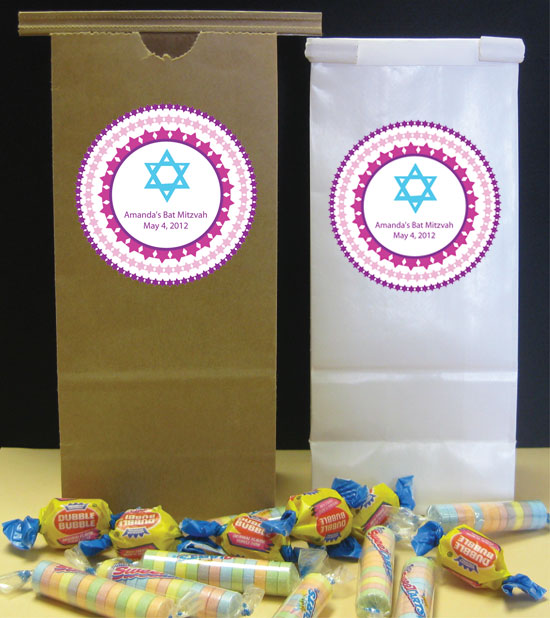 Bat Mitzvah Party Favor Bag