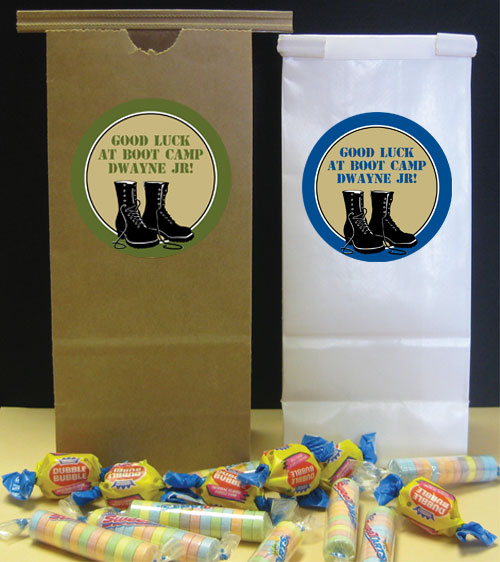 Boot Camp Theme Party Favor Bag