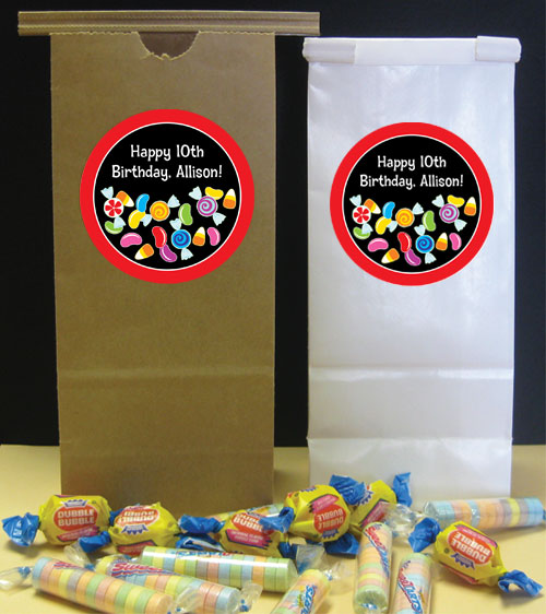 Candy Party Theme Custom Favor Bag