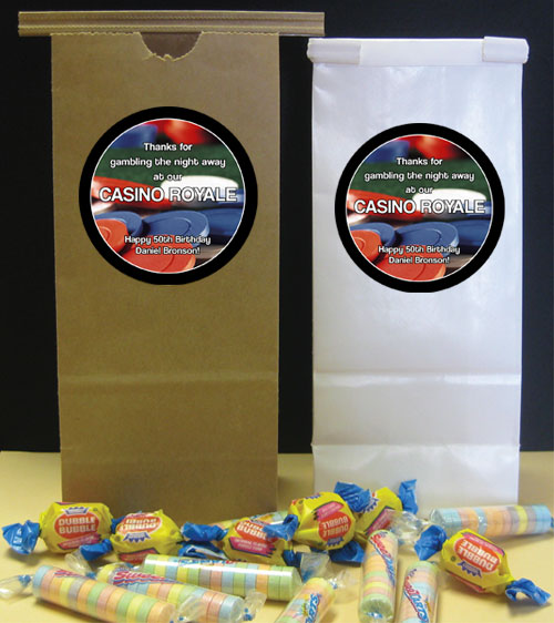 Casino Chips Party Theme Favor Bag