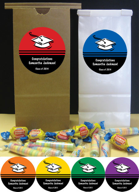 Graduation Color Choice Theme Custom Favor Bag