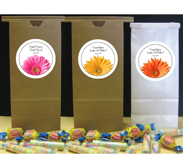 Daisy Theme Party Favor Bag