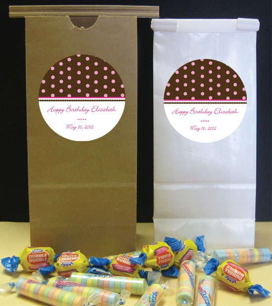 Dots Theme Party Favor Bag