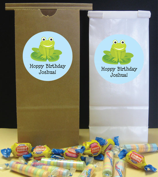 Frog Theme Favor Bag