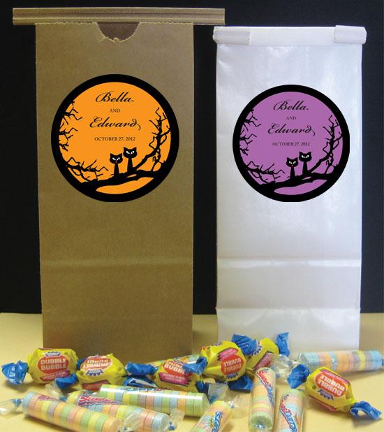 Halloween Wedding Theme Favor Bag