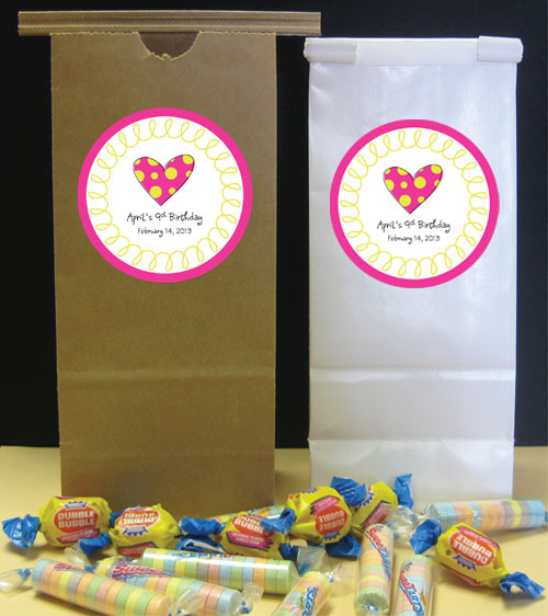 Heart Theme Party Favor Bag