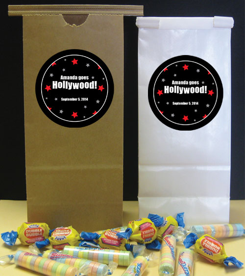 Hollywood Star Theme Favor Bag