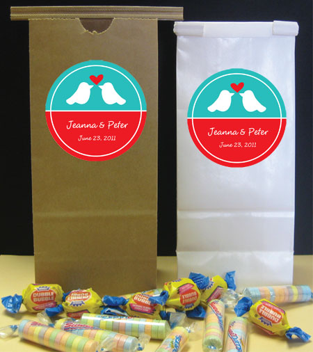 A Lovebirds Theme Favor Bag