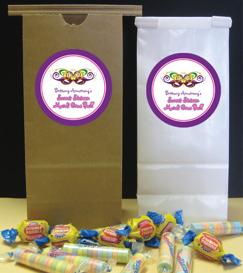 2015 Mardi Gras Ball Theme Favor Bag