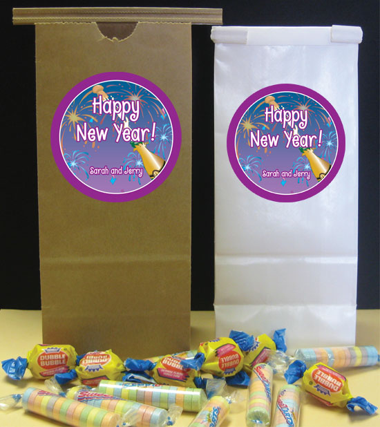 A New Years Eve Toast Party Favor Bag