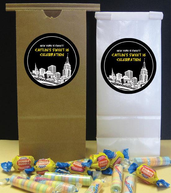 New York Party Theme Favor Bag