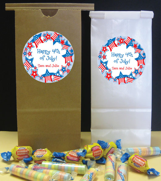 Patriotic Stars Theme Favor Bag