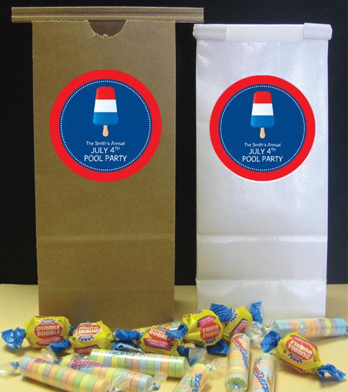 Patriotic Popsicle Theme Favor Bag