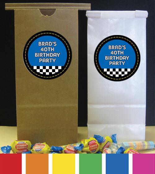 Car Racing Theme Favor Bag