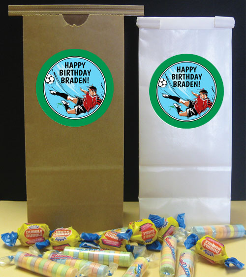 Soccer Boy Theme Favor Bag
