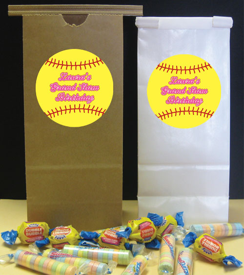 Softball Theme Favor Bag