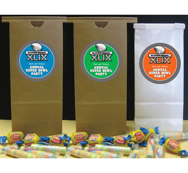 2015 Super Bowl XLIX Theme Party Favor Bag