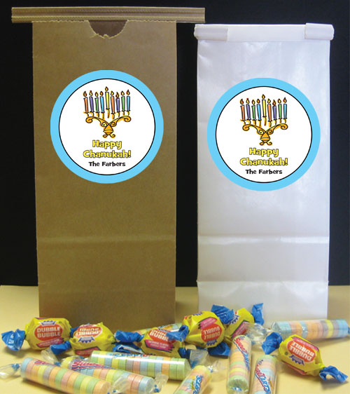 Chanukah Menorah Theme Party Favor Bag