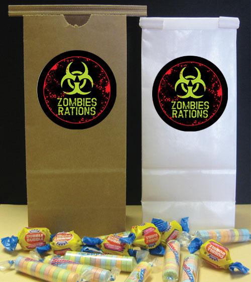 Zombie Party Favor Bag