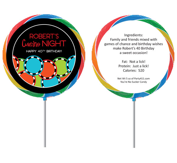Casino Poker Chips Theme Lollipop
