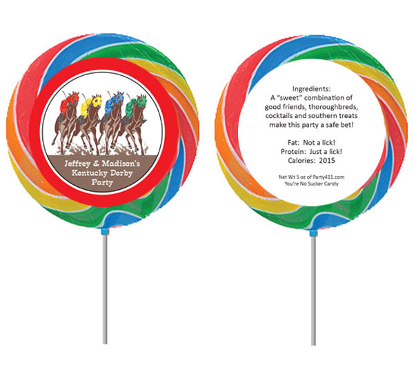 Kentucky Derby Party Theme Custom Lollipop