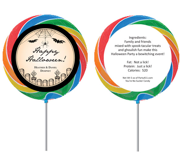 Halloween Vintage Theme Lollipop