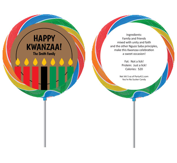 Kwanzaa Kinara Candles Lollipop