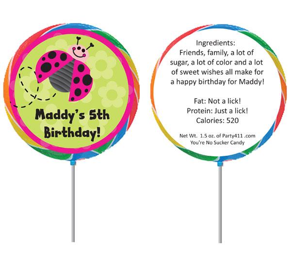 Ladybugs Theme Lollipop