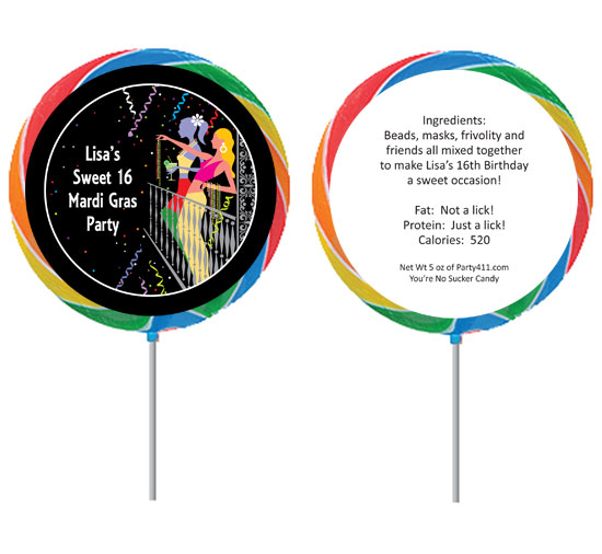 A Mardi Gras Balcony Theme Lollipop