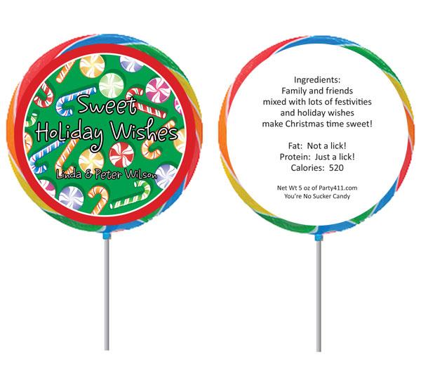 Christmas Candy Theme Lollipop