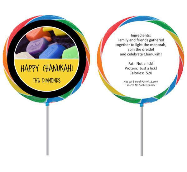 Chanukah Dreidel Lollipop