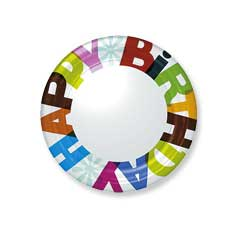 "Big Day! 9"" Plates"