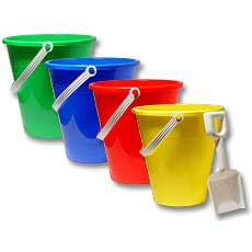 Large Pails and Shovels