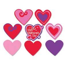 Printed Heart Cutouts (30)