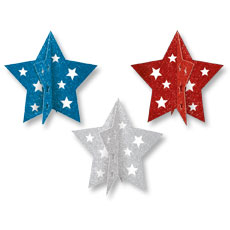 Patriotic 3d Star Decor