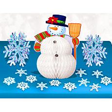 Snowman Table Decor Kit