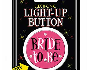 LED Bride to Be Button