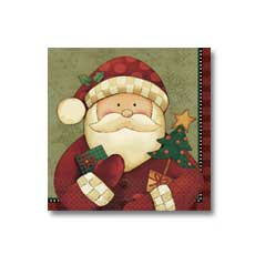 Cozy Santa Luncheon napkin (16)