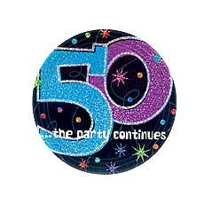 "50th Party 9"" Plates"