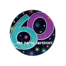 """60th Party 9"""" Plates"""