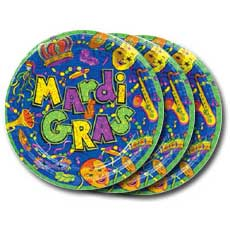 "Mardi Gras 8"" Plates"