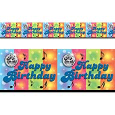 Disco Birthday Border
