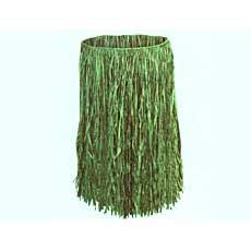 "Green Raffia Skirt 36"""