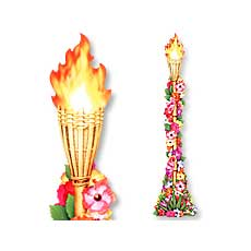 Floral Tropical Torch