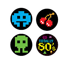 80s Drink Coasters