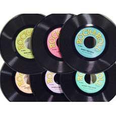 "9"" PLASTIC RECORD (3PK)"