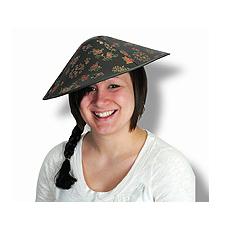 Asian Hat W/ Braid