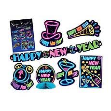 Neon New Year Decor Kit