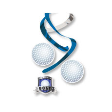 Golf Swirl Danglers