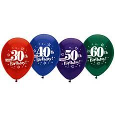 "40th Happy Birthday Balloons 12"""